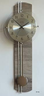 funkuhr mit pendel oxford uhr wanduhr pendeluhr trüffeleiche küche wohnzimmer diele flur b
