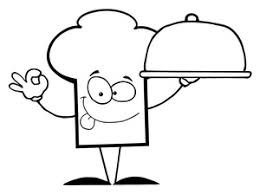 Chef hat chef clipart image black and white chef