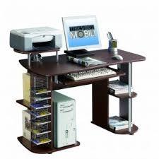Techni Mobili Computer Desk With Side Cabinet by Corner Computer Desk With Shelves Foter