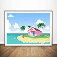 100 Kames House Dragon Ball Z Kame Wall Art Paint Wall Decor Canvas