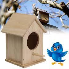 Amazoncom Hot Sale Wooden Bird House Feeder Wild Birds Nest Home