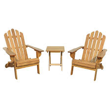 Lowes Canada Adirondack Chairs by Adirondack Pine Chairs And Table Natural 3 Pieces Rona
