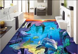 Gallery Of D Epoxy Floors Colorful Ocean Theme Mural To Design Your Cheerful Living Room With 3d