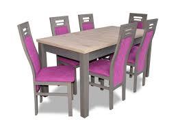 moderne esszimmer holz tisch stuhl garnitur komplett set 7 teiliges set stühle