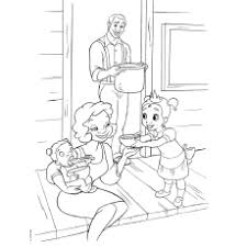 Princess And The Frog Coloring Pages James Eudora With Baby Tiana