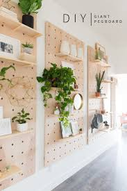 Wood Shelves Design Ideas by Giant Pegboard Diy Diy Shelving Shelving Ideas And Shelves