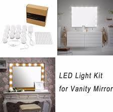 Diy Vanity Table With Lights by Hollywood Diy Vanity Lights Strip Kit For Lighted Makeup Dressing
