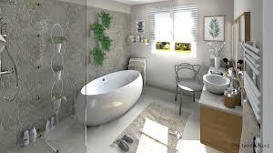 salle de bain ambiance nature et zen avec une mosaïque de galets