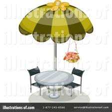 Royalty Free RF Patio Furniture Clipart Illustration By Graphics