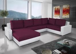couchgarnitur grado mit schlaffunktion otto links weiss violett