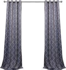 ana quatrefoil blackout grommet single curtain panel reviews