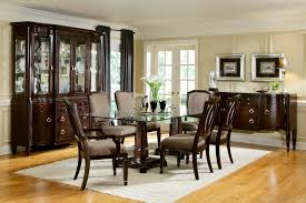 Elegant Kitchen Table Decorating Ideas by Glass Dining Room Furniture Pleasing Decoration Ideas Dinning Room