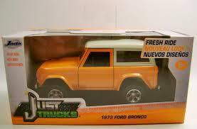 1973 '73 FORD Bronco Orange Just Trucks Diecast 2015 Jada 1:32 Scale ...