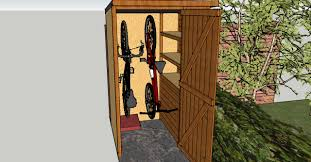 4x6 Wood Storage Shed by Vertical Bikes Bike Locker Ideas Pinterest Storage Storage