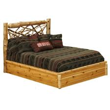 Lodge Cedar Log Twig Platform Bed