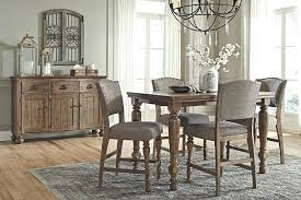 Ashley Dining Set With Bench Modern Counter Height Room Table Furniture At Sets