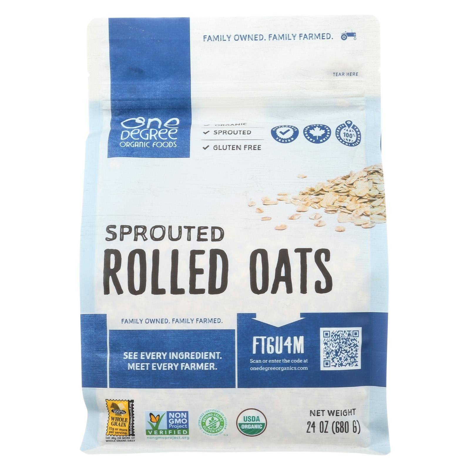 One Degree Organic Foods Organic Sprouted Rolled Oats, 24 Ounce