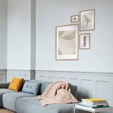 connox collection gallery wall bilderrahmen 4er set eiche geweisst