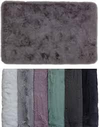 schöner wohnen kollektion badezimmerteppich 40 x 60 cm sehr flauschige badematte grau waschbar und rutschhemmend