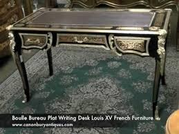 bureau boulle boulle bureau plat writing desk louis xv furniture