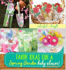 Colorful Spring Garden Favor Ideas For A Baby Shower