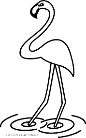 Flamingo Coloring Page For Toddlers Simple Color Sheet Picture
