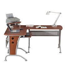 techni mobili l shaped computer desk in mahogany ebay