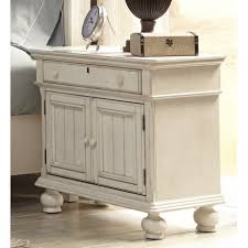 Sauder Harbor View Dresser Antiqued White Finish by Nightstand Antique White