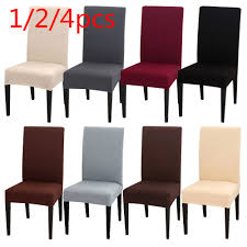 US $1.87 36% OFF 1/2/4PC Solid Color Chair Cover Spandex Stretch Elastic  Slipcovers Seat Chair Covers Dining Room Banquet Hotel Kitchen Wedding-in  ... Blancho Bedding 2 Piece Sets Of Elastic Chair Slipcovers Stretch Sofa Covers Cover Couch For 1 3 Seater Slipover Top Quality New Winter 1234 Thickened Sofa Cover Case Living Room Details About Easy Fit Lounge Protector 124x High Back Ding Knit Compare Idyllic Plant Print 4 Rowe Easton Casual And A Half With Slipcover Belfort Parson Life Is Party Best Sale 6847 1246pcs White Loviver 124pcs Removable 1246pcs Spandex Chairs Detachable Solid Color For Banquet Hotel Kitchen Wedding