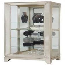 Pulaski Glass Panel Display Cabinet by Silver Curio Cabinets Foter