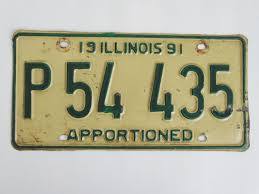 Illinois+Apportioned+Truck+License+Plate+Tag $7.99 | License Plate ...