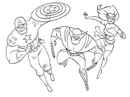 Coloring Pages Kids New Superhero Printable Color