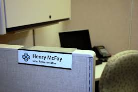 New Changeable Slide In Cubicle Nameplate Holders Created by NapTags