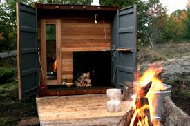 100 Conex Cabin Sauna Box Turns An Old Shipping Container Into A Self