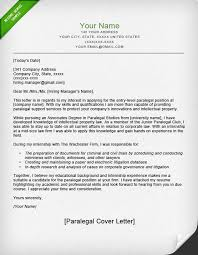 Cover Letter Example Paralegal Park CL