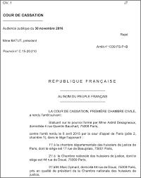 chambre nationale la cour de cassation va à l encontre des directives de la chambre