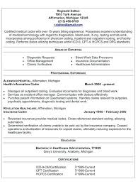 Objective For Medical Billing Resume Coding Example Specialist