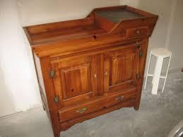 vintage ethan allen antiqued dry sink server 1960 s copper insert