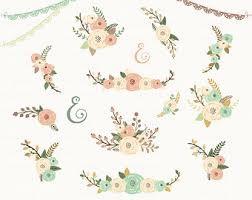 50 Off Sale Rustic Flowers Clipart Floral Wedding Yveozv