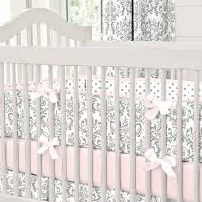 Pink and Gray Traditions Crib Bumper