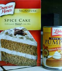 Cake Mix And Pumpkin by Two Ingredient Cake Spice Cake Mix And Pumpkin Puree Nosh My Way