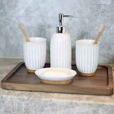 qaws badezimmer keramik badezimmer set bad accessoires