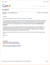 Business email example 8 formal good vision professional address