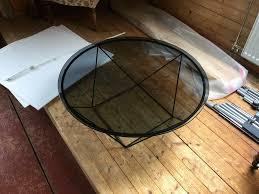 segmüller glas metall wohnzimmer tisch neu