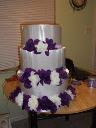 Round Wedding Cakes With Purple Flowers Keema S Wholesale High Quality Western Style