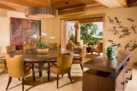Hawaii Round Chair Cushions With Home Stagers Dining Room Tropical And Lazy Susan Table