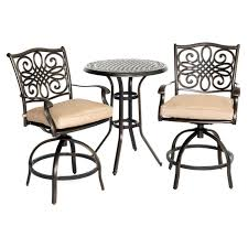 Hanover Outdoor Traditions 3-Piece High-Dining Bistro Set, Natural ... Pub Tables Bistro Sets Table Asuntpublicos Tall Patio Chairs Swivel Strathmere Allure Bar Height Set Balcony Fniture Chair For Sale Outdoor Garden Mainstays Wentworth 3 Piece High Seats Www Alcott Hill Zaina With Cushions Reviews Wayfair Shop Berry Pointe Black Alinum And Fabric Free Home Depot Clearance Sand 4 Seasons Valentine Back At John Belden Park 3pc Walmartcom