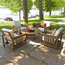 Premium Poly Patios Millersburg Oh by Polywood 5 Piece Conversation Set Mission Collection Polywood