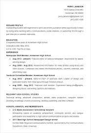 Word Sample Resume Resumes In High School Student Template