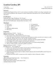 Nursing Resume Examples Useful Template 2017 Sb O110419